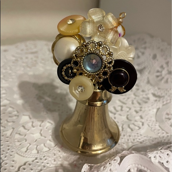 Hand Crafted Vintage Button Bouquet